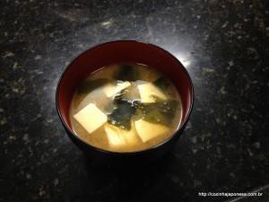 Misso shiru com tofu (sopa de soja)
