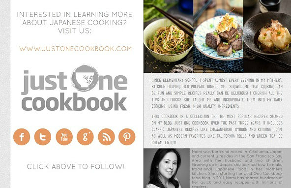 Ebook com receitas japonesas (em Inglês)