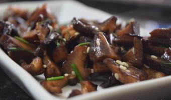 Receita de Shiitake no Batayaki – Cogumelo Shiitake Refogado na Manteiga