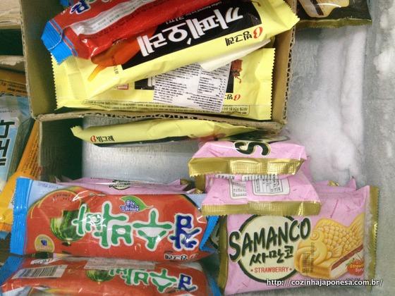 Outros sorvetes à venda na Mercearia Jinlong