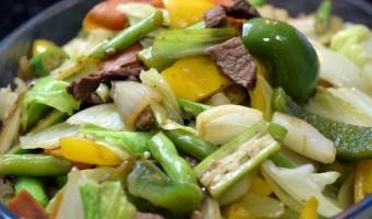 Receita de Legumes Grelhados com Carne na Manteiga (Batayaki)