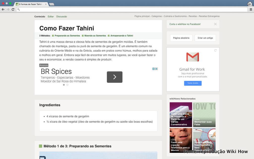 Como fazer tahine (Wiki How)