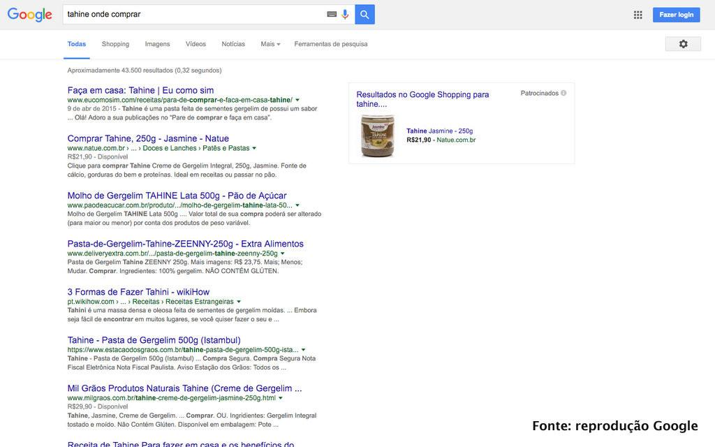 """Resultado da busca """"onde comprar tahine"""""""