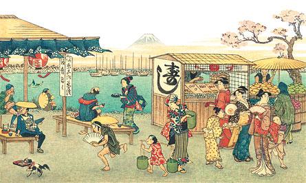 Quiosque de sushi (era Edo)