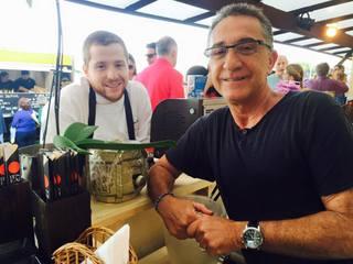 Restauranter Cesar Hasky e seu filho, chef Elie