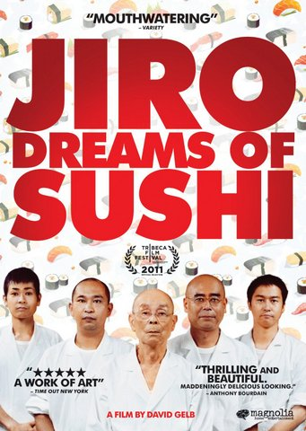 Capa do DVD do filme (documentário) Jiro Dreams of Sushi
