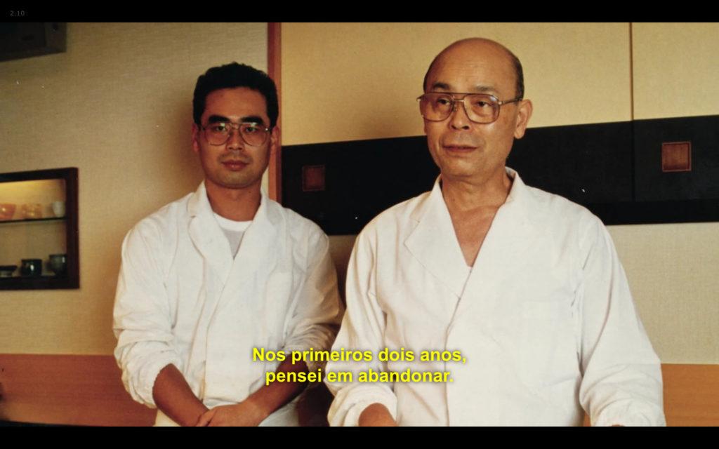 Cena de Jiro Dreams of Sushi: Yoshikazu Ono pensou em desistir nos primeiros dois anos