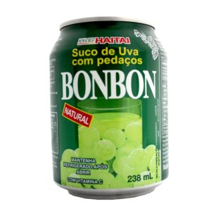 Suco de uva verde com pedaços da fruta - Bon Bon